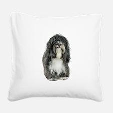 FIN-tibetan-terrier.png Square Canvas Pillow