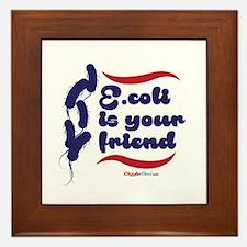 E.coli friends 02 Framed Tile