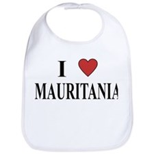 I Love Mauritania Bib