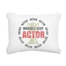 World's Best Actor Rectangular Canvas Pillow