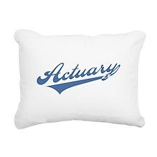 Retro Actuary Rectangular Canvas Pillow