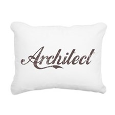 Vintage Architect Rectangular Canvas Pillow