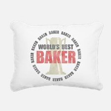World's Best Baker Rectangular Canvas Pillow
