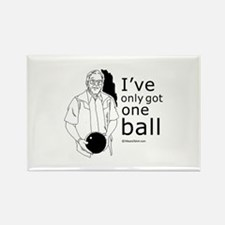 I've only got one ball ~ Rectangle Magnet
