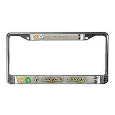 Offset Carbon License Plate Frame