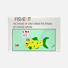 Fish Bait Rectangle Magnet (10 pack)