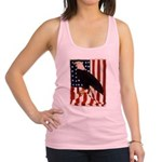 Bald Eagle and Flag Racerback Tank Top