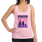 penguins-CROP-text.png Racerback Tank Top