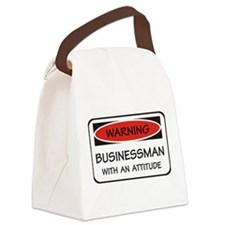 Attitude Businessman Canvas Lunch Bag