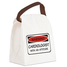Attitude Cardiologist Canvas Lunch Bag