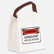 Attitude Consultant Canvas Lunch Bag