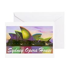 Sydney Opera House Lights Greeting Cards (10 Pk)