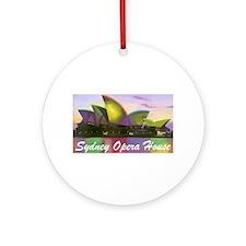 Sydney Opera House Lights Ornament (Round)
