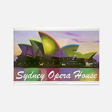 Sydney Opera House Lights Rectangle Magnet