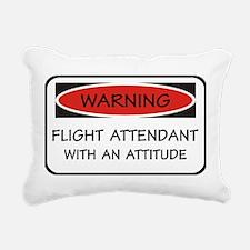 Attitude Flight Attendant Rectangular Canvas Pillo