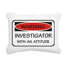 Attitude Investigator Rectangular Canvas Pillow