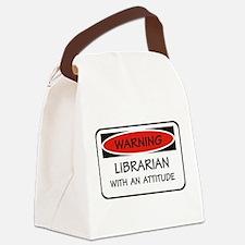 Attitude Librarian Canvas Lunch Bag