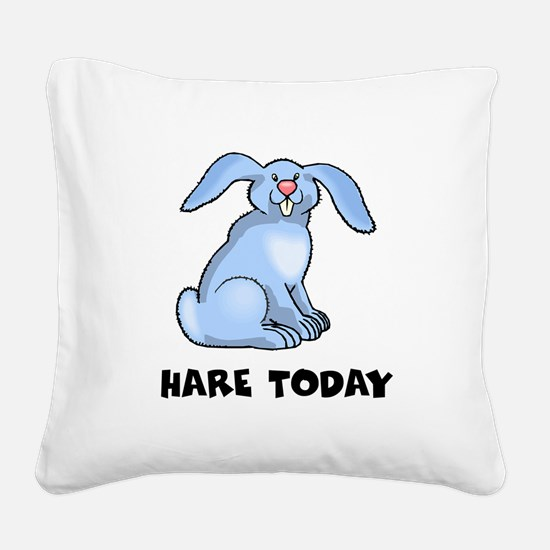 FIN-foo-foo-hare-today.png Square Canvas Pillow