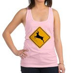 deer-crossing-sign.... Racerback Tank Top