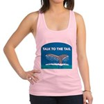 FIN-whale-talk-tail.png Racerback Tank Top