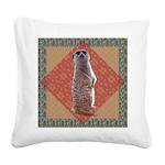 FIN-meerkat-TSHIRT.png Square Canvas Pillow