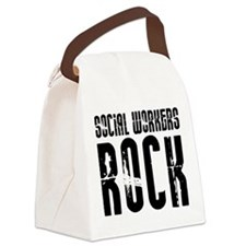 Social Workers Rock Canvas Lunch Bag