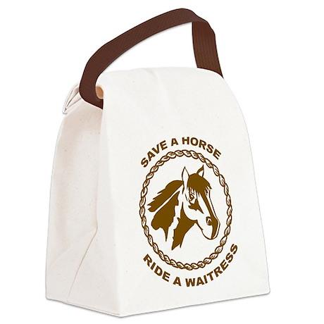 Ride A Waitress Canvas Lunch Bag