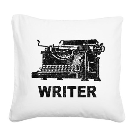 Vintage Writer Square Canvas Pillow