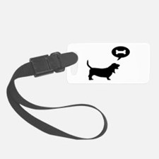 3-basset hound.png Luggage Tag