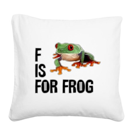f-is-for-frog-10x10.png Square Canvas Pillow