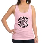 FIN-get-reel-go-fish-black.png Racerback Tank Top