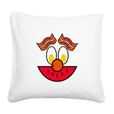 FIN-food-face.png Square Canvas Pillow