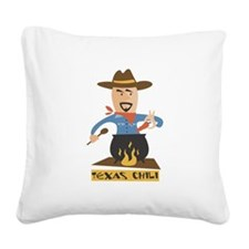 FIN-texas-chili.png Square Canvas Pillow