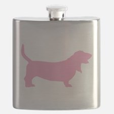 basset hound pink.png Flask