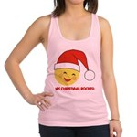 FIN-christmas-rocked.png Racerback Tank Top
