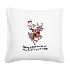 FIN-merry-christmas-to-all.png Square Canvas Pillo