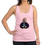 FIN-feather-mask3.png Racerback Tank Top