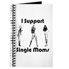 Cute I support single moms Journal