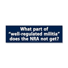 Well-regulated militia Car Magnet 10 x 3