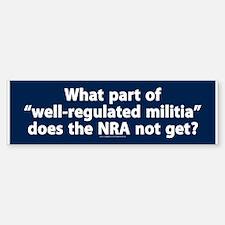 Well-regulated militia Bumper Sticker (10 pack)