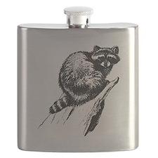 Vintage Raccoon Flask