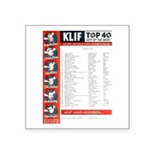 "KLIF Playlist (1964) Square Sticker 3"" x 3&qu"