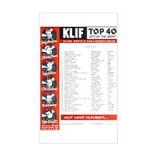 KLIF Playlist (1964) Decal