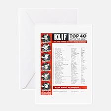 KLIF Playlist (1964) Greeting Card