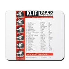KLIF Playlist (1964) Mousepad