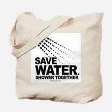 Save water. Shower together. -  Tote Bag