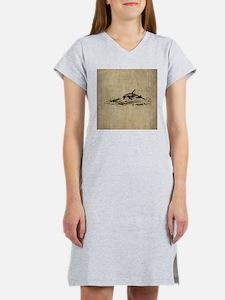 Vintage Killer Whale Women's Nightshirt