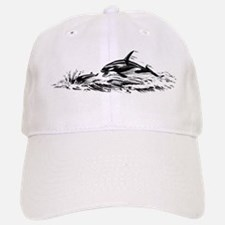 Vintage Killer Whale Baseball Baseball Cap