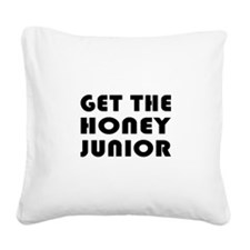 FIN-get-honey-junior.png Square Canvas Pillow