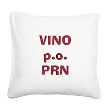 Vino p.o. PRN Square Canvas Pillow
